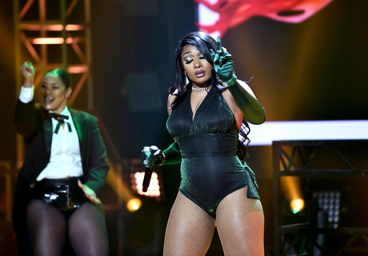 Megan Thee Stallion performs onstage during Dick Clark's New Year's Rockin' Eve with Ryan Seacrest 2020 Hollywood Party on November 23, 2019 in Los Angeles, California