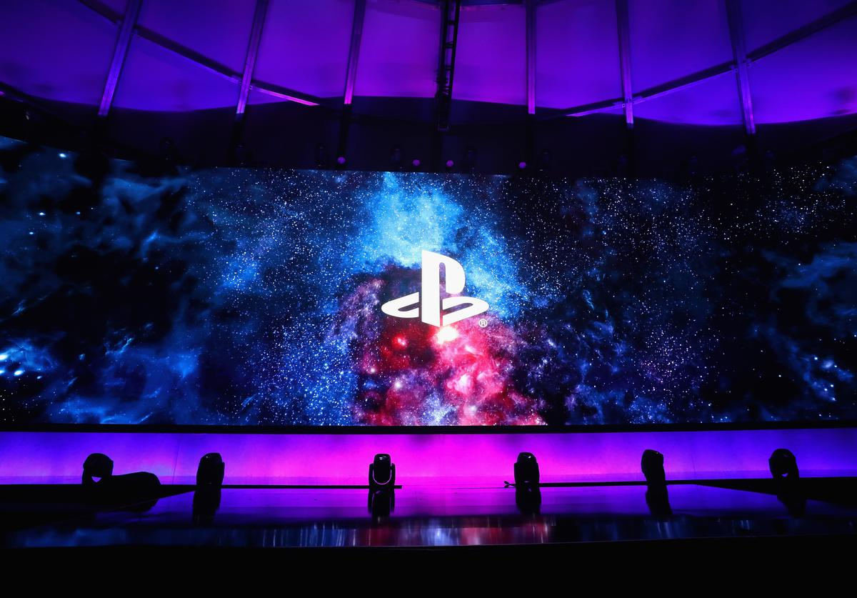 Playstation Logo at Sony Playstation E3 conference (2018)