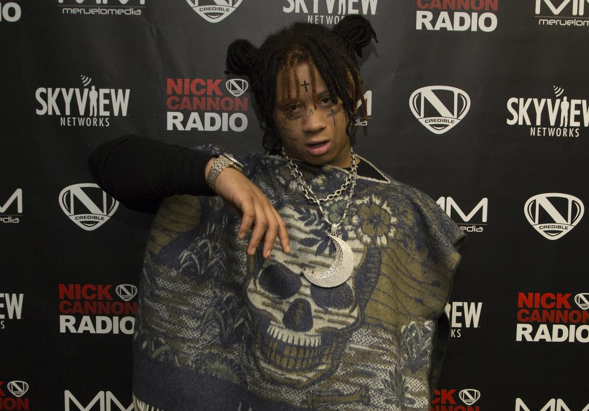 Trippie Redd attends Nick Cannon, Meruelo Media, Skyview Announce Radio Syndication on December 04, 2019 in Burbank, California