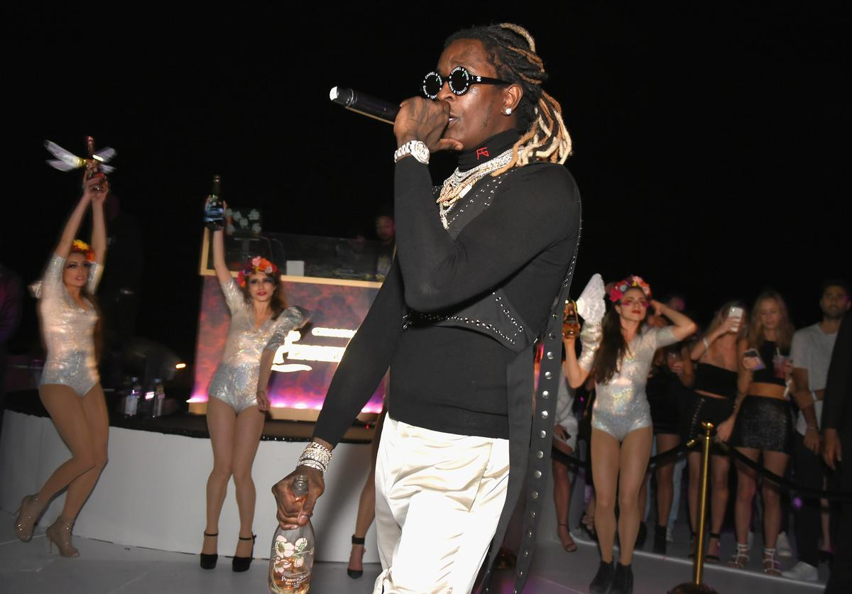 Young Thug performing at L'Eden by Perrier-Jouët 2018 in Miami