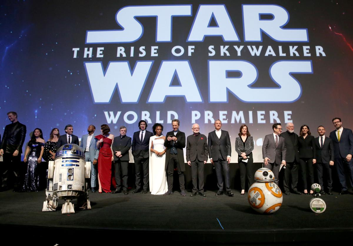 """Star Wars: Rise of Skywalker"" Cast at World Premiere (Dec. 2019)"