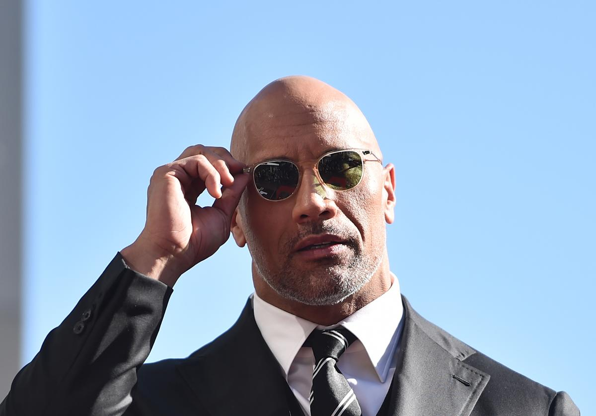 "Dwayne ""The Rock"" Johnson at Hollywood Walk of Fame ceremony (Dec. 2017)"