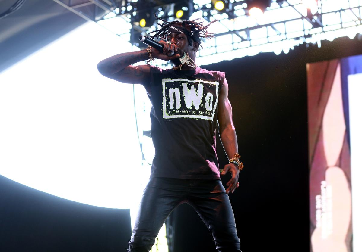 Meechy Darko of Flatbush Zombies performs onstage during 2018 Coachella Valley Music And Arts Festival Weekend 1 at the Empire Polo Field on April 14, 2018 in Indio, California