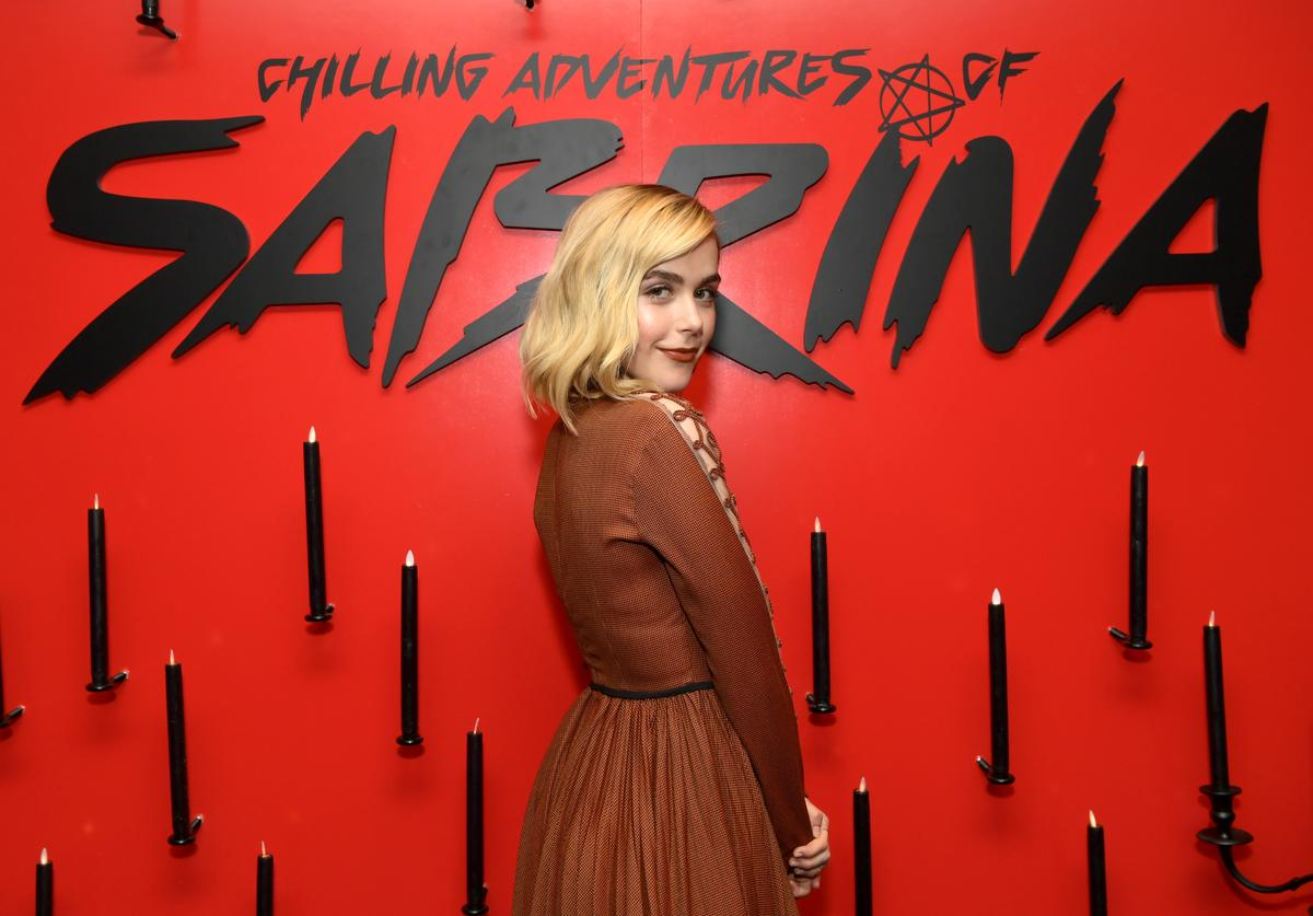 """Kiernan Shipka attends Netflix's """"The Chilling Adventures of Sabrina"""" Q&A and Reception at the Pacific Design Center on March 17, 2019 in West Hollywood, California."""