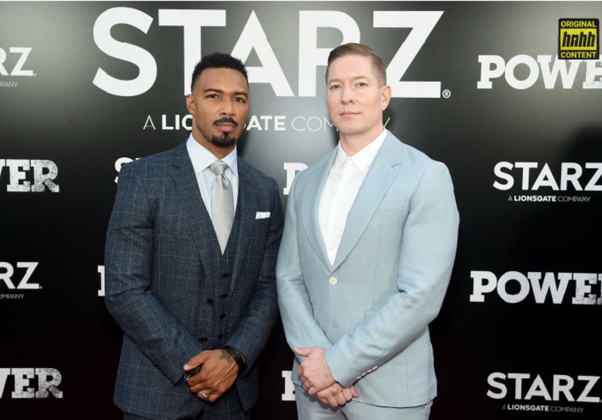 "Omari Hardwick and Joseph Sikora attend the Starz ""Power"" The Fifth Season NYC Red Carpet Premiere Event & After Party on June 28, 2018 in New York City."
