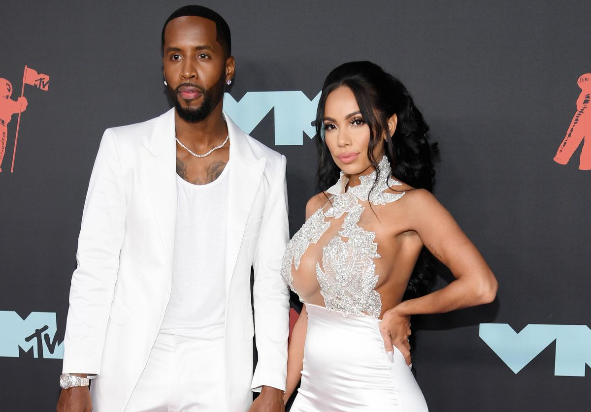 Safaree Samuels and Erica Mena Samuels at the 2019 MTV Video Music Awards