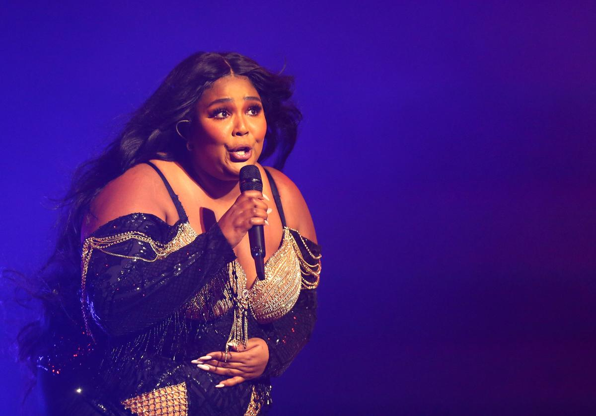 Lizzo performs at Sydney Opera House on January 06, 2020 in Sydney, Australia