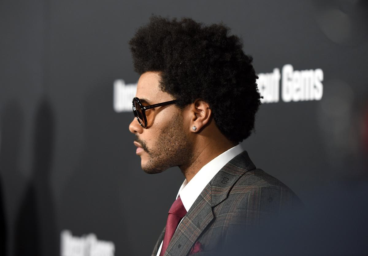 "The Weeknd attends the Los Angeles Premiere of ""Uncut Gems"" on December 11, 2019 in Los Angeles, California"