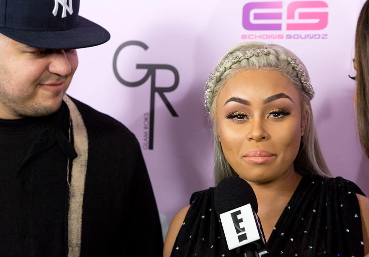 """Blac Chyna & Rob Kardashian at Birthday Celebration And Unveiling Of Her """"Chymoji"""" Emoji Collection at the Hard Rock Cafe (May 2016)"""