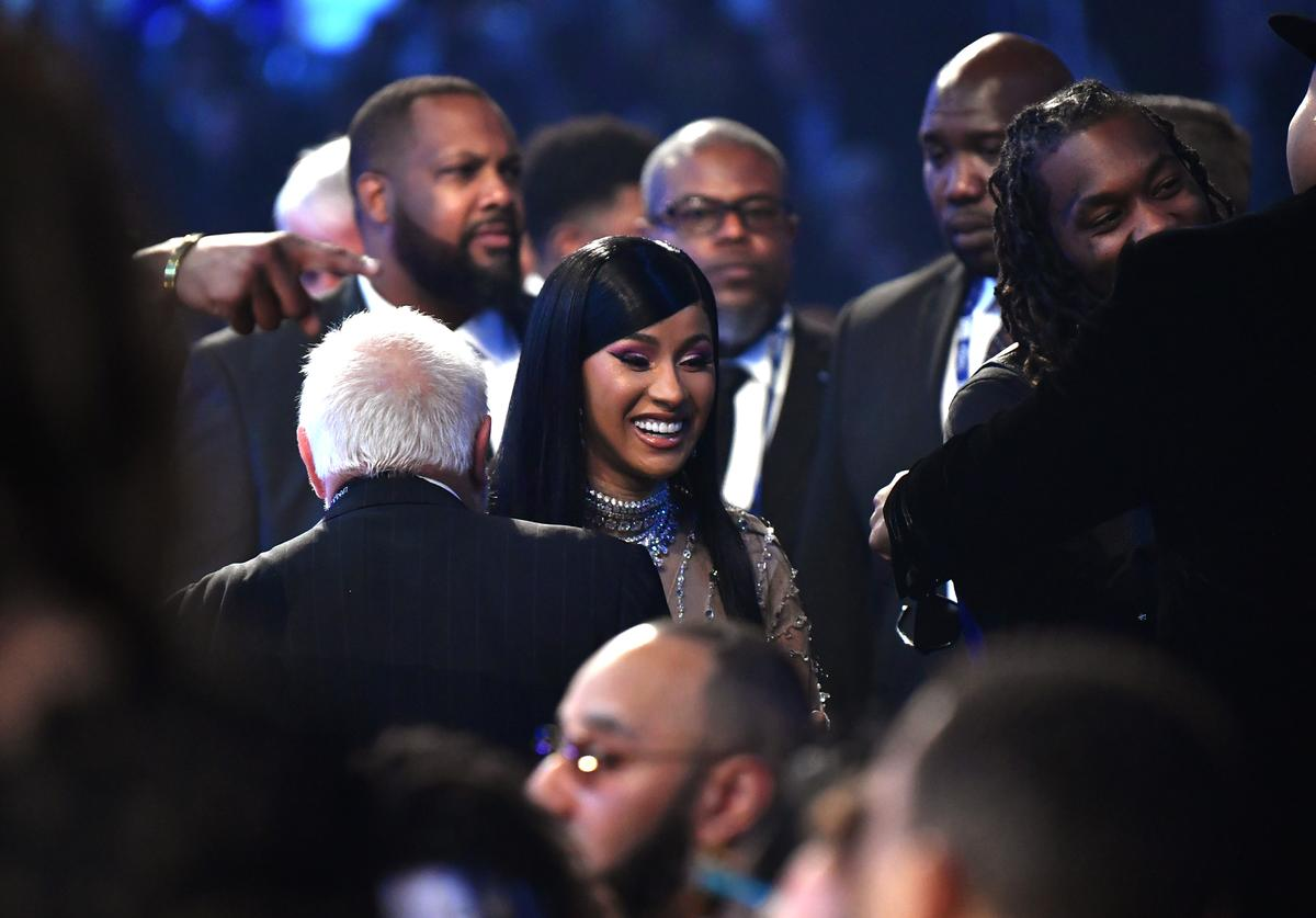 Cardi B attends the 62nd Annual GRAMMY Awards at STAPLES Center on January 26, 2020 in Los Angeles, California