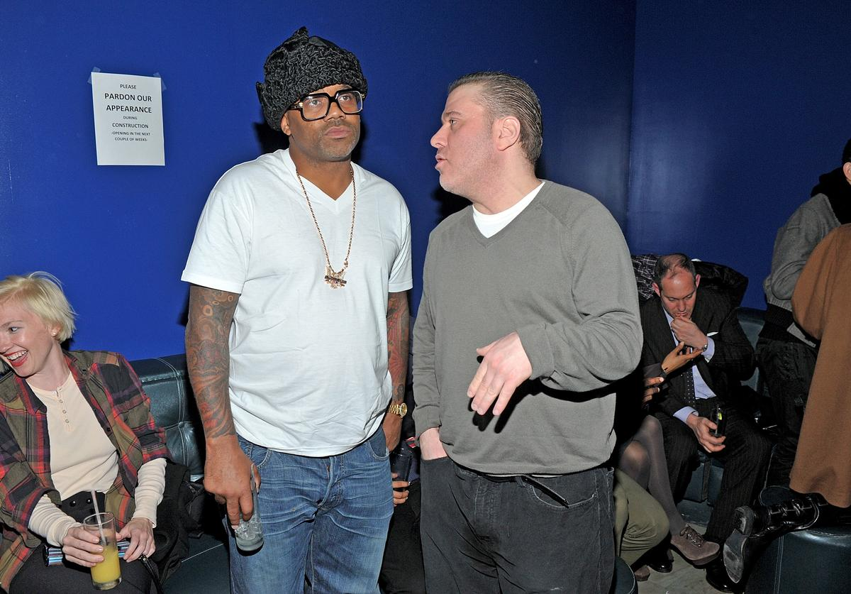 Damon Dash and Noel Ashman attend the Buckler by Andrew Buckler men's collection Fall 2012 presentation (Feb. 2012)