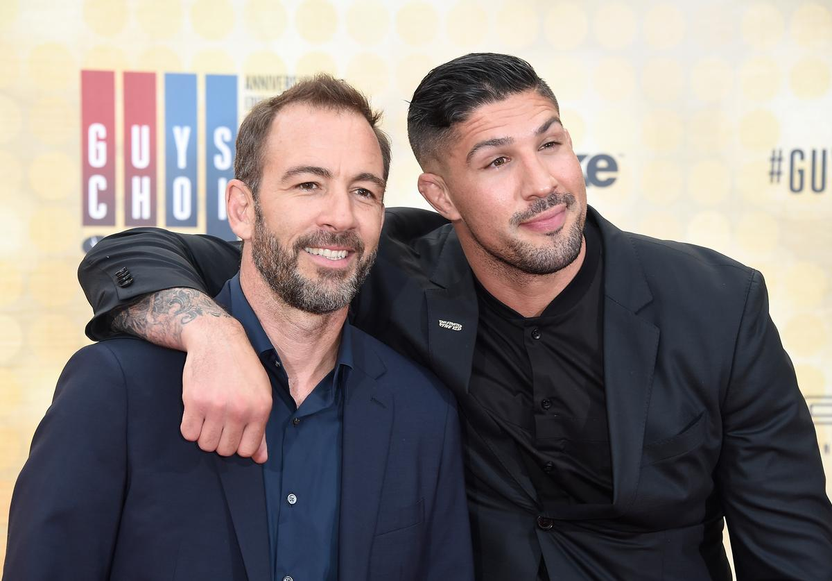 Bryan Callen (L) and MMA fighter Brendan Schaub attend Spike TV's 10th Annual Guys Choice Awards at Sony Pictures Studios on June 4, 2016 in Culver City, California