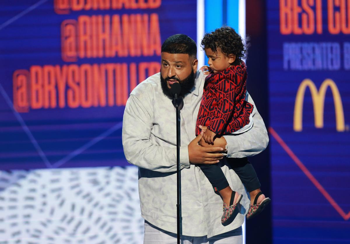 DJ Khaled & his son Asahd
