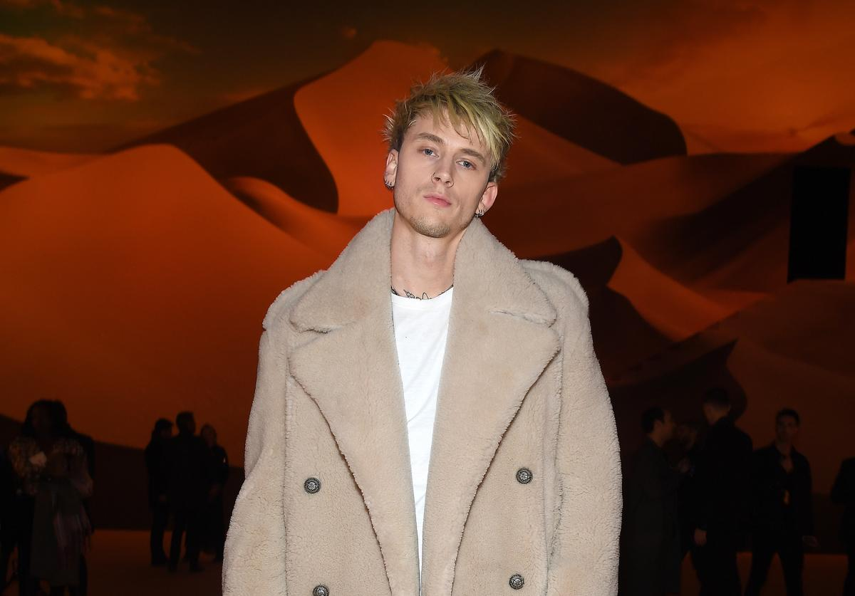 Colson Baker attends the Balmain Menswear Fall/Winter 2020-2021 show as part of Paris Fashion Week on January 17, 2020 in Paris, France