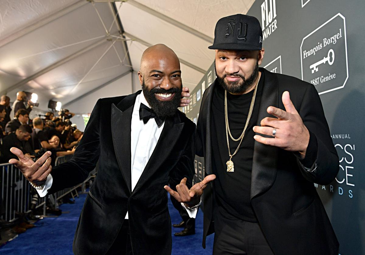 Desus Nice and The Kid Mero attend the 25th Annual Critics' Choice Awards at Barker Hangar on January 12, 2020 in Santa Monica, California
