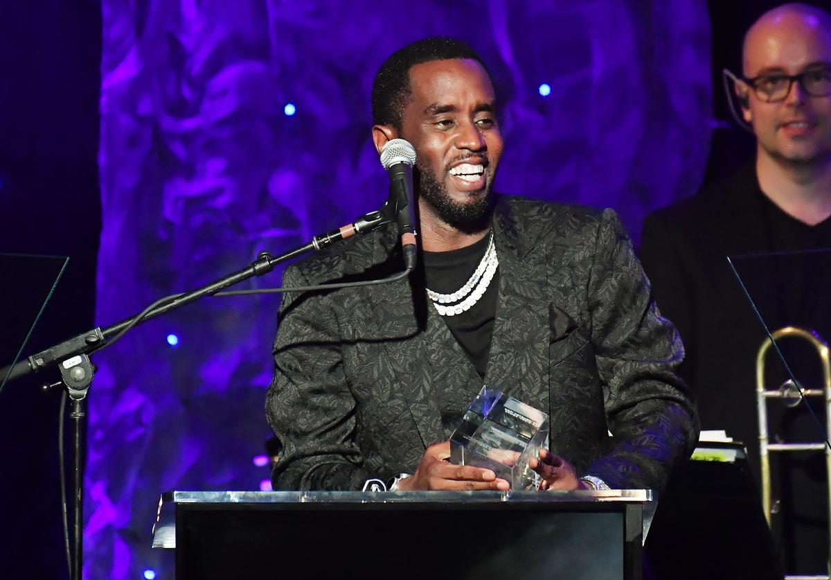 """Honoree Sean """"Diddy"""" Combs speaks onstage during the Pre-GRAMMY Gala and GRAMMY Salute to Industry Icons Honoring Sean """"Diddy"""" Combs on January 25, 2020 in Beverly Hills, California."""