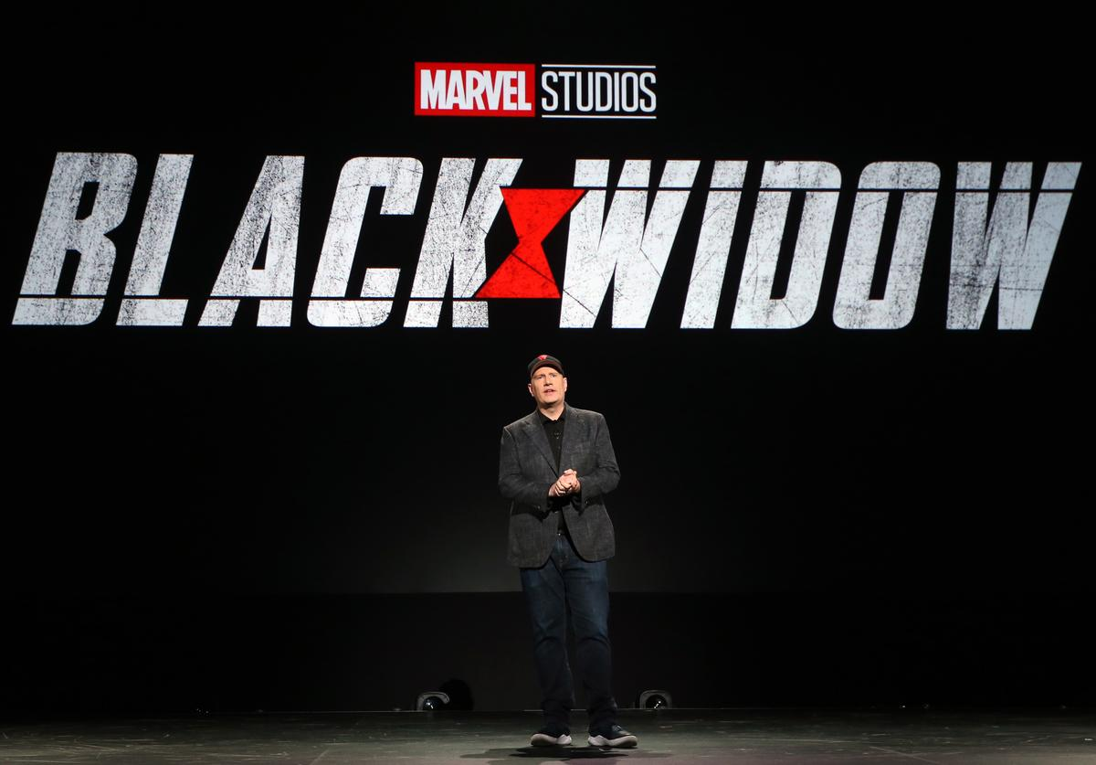 President of Marvel Studios Kevin Feige took part today in the Walt Disney Studios  (Aug. 2019)