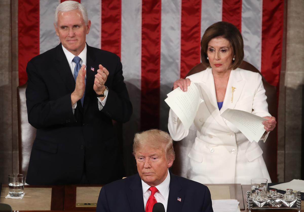 Donald Trump, Mike Pence, Nancy Pelosi, State of the Union