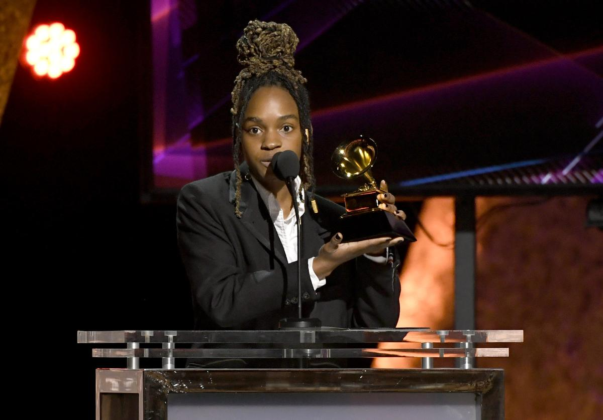 "Koffee accepts the Best Reggae Album award for ""Rapture"" onstage during the 62nd Annual GRAMMY Awards Premiere Ceremony at Microsoft Theater on January 26, 2020 in Los Angeles, California. ("