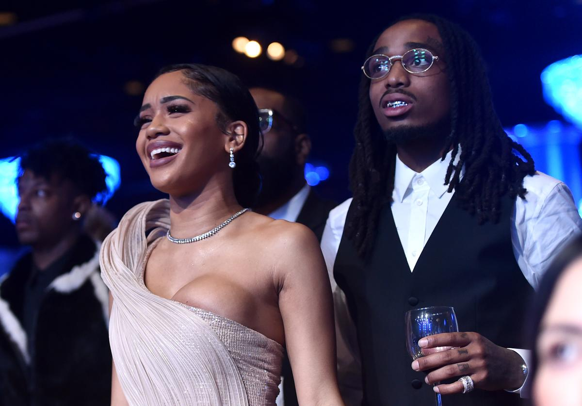 Saweetie and Quavo boo'd up
