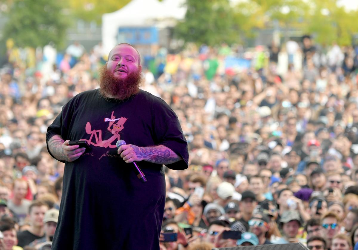 Action Bronson performs onstage during the Meadows Music and Arts Festival (Sept. 2017)