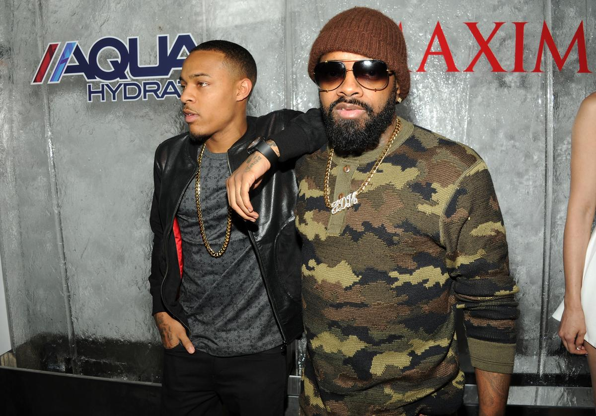 "Bow Wow (L) and producer Jermaine Dupri attend MAXIM Magazine's ""Big Game Weekend"" Sponsored By AQUAhydrate on February 1, 2014 in New York City"