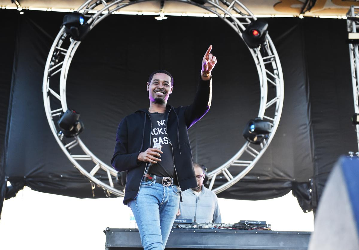 Danny Brown performs at the Growlers 6 festival at the LA Waterfront (Oct. 2017)