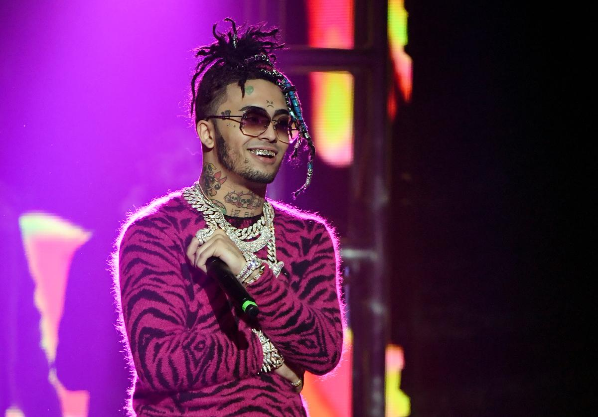 Rapper Lil Pump performs during the 2020 Adult Video News Awards at The Joint inside the Hard Rock Hotel & Casino on January 25, 2020 in Las Vegas, Nevada.