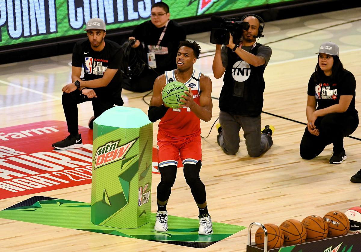 Buddy Hield, 3-point contest, NBA, Devin Booker