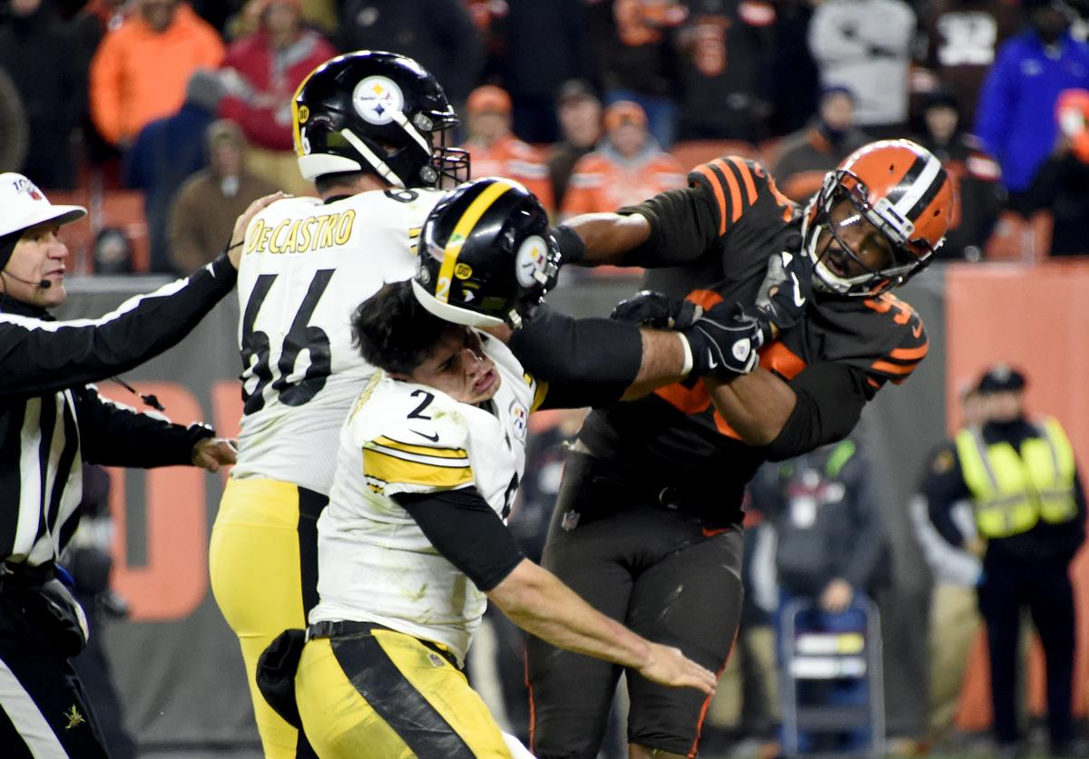 Mason Rudolph Myles Garrett helmet-swinging incident legal action liability racial slur