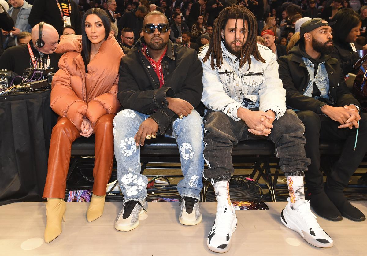 Kanye West J. Cole nba all star game