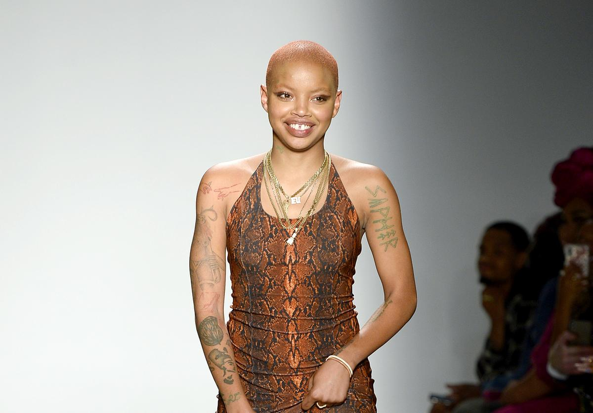 Slick Woods seizure cancer cancer-related injuries diagnosis stitches fall vegan face-plant melanoma stitches swollen lip