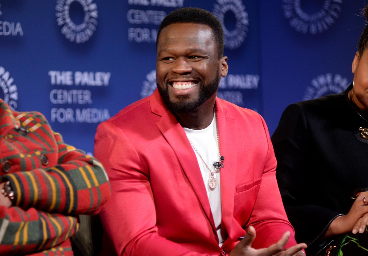 "Curtis ""50 Cent"" Jackson speaks onstage during the Power Series Finale Episode Screening at Paley Center on February 07, 2020 in New York City."