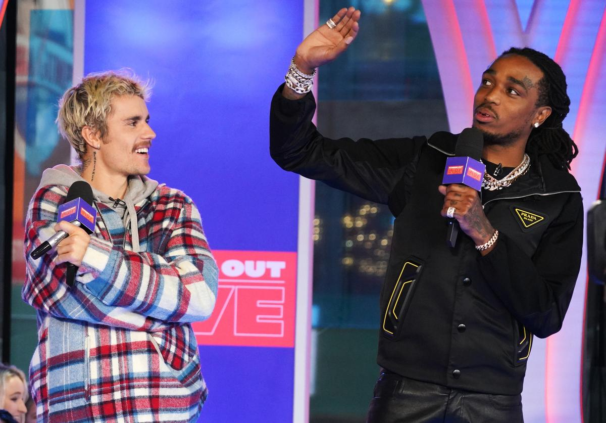 quavo bieber intentions sixth top 10 hit