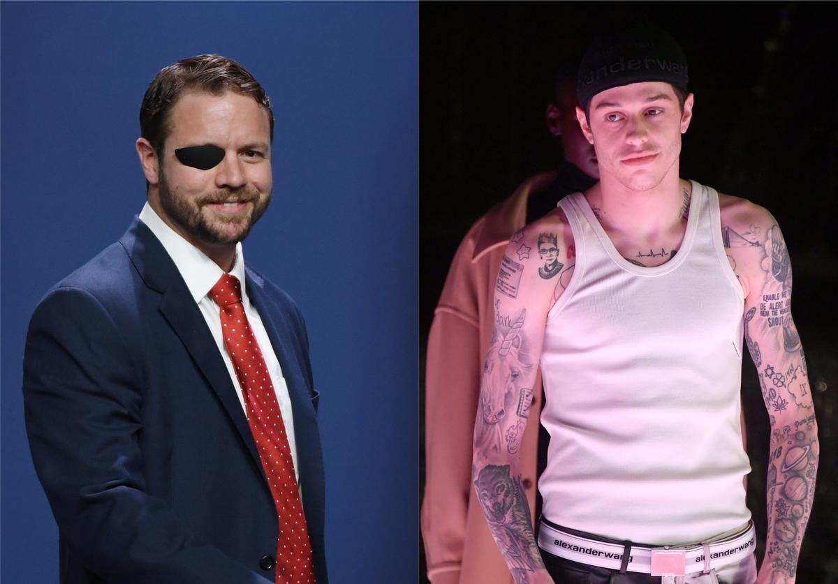 Pete Davidson Dan Crenshaw response retract apology politician SNL Saturday Night Live eyepatch joke Alive From New York Netflix stand-up comedy special