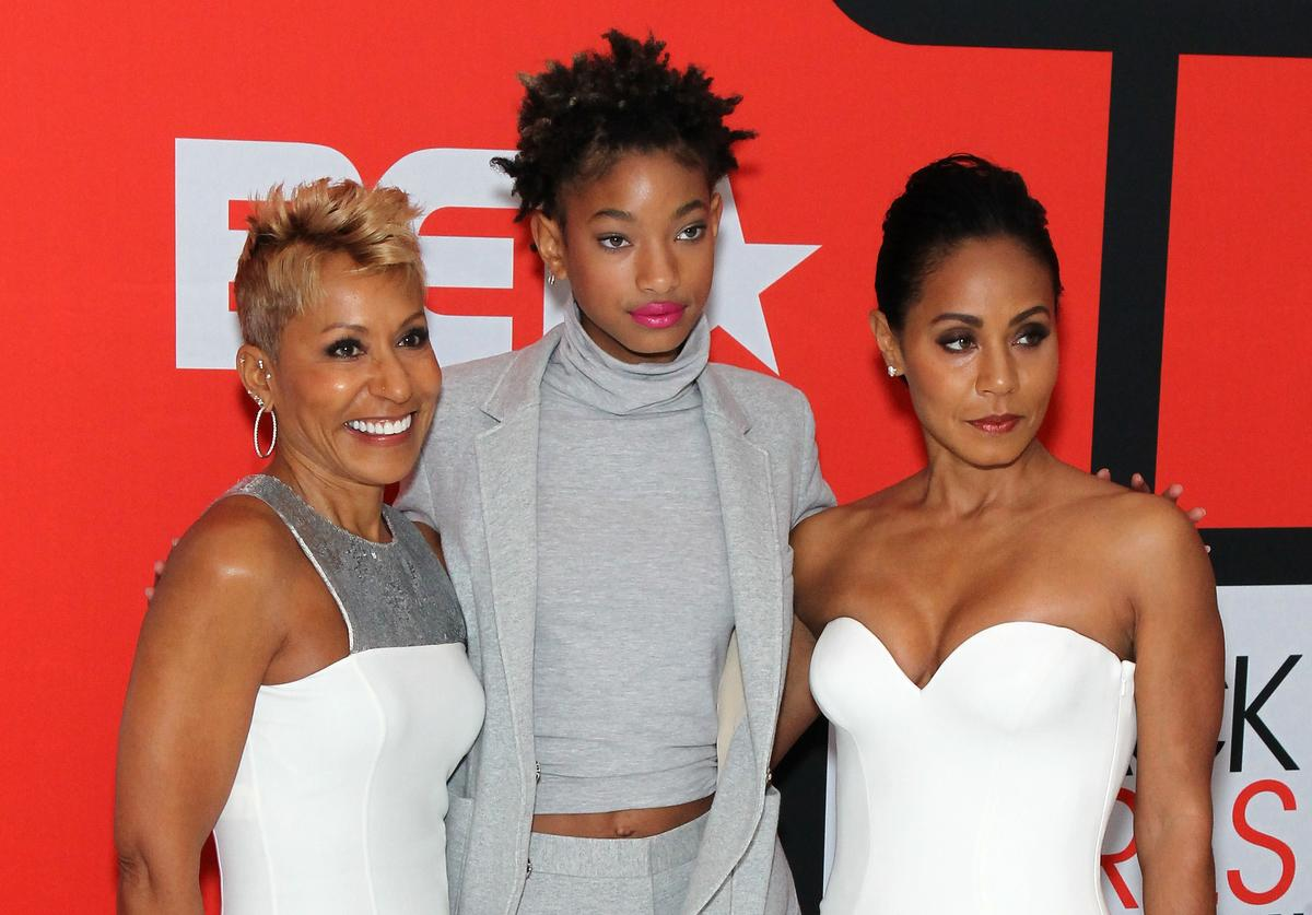 Jada Pinkett Smith Willow Smith Adrienne Banfield-Jones Red Table Talk generational cycle three generations family mother daughter meme