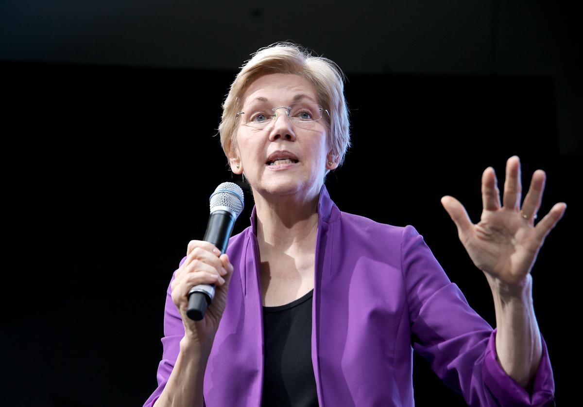 Senior United States Senator from Massachusetts, Elizabeth Warren speaks onstage at EMILY's List Breaking Through 2016 at the Democratic National Convention at Kimmel Center for the Performing Arts on July 27, 2016 in Philadelphia, Pennsylvania.