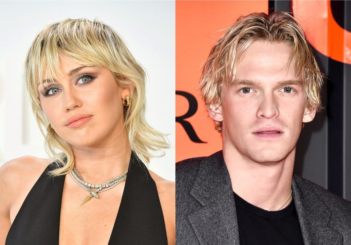 Miley Cyrus Cody Simpson matching trident tattoo couple love Prince Neptune couple ink