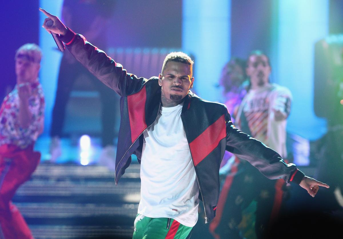 : Chris Brown performs onstage at 2017 BET Awards at Microsoft Theater on June 25, 2017 in Los Angeles, California