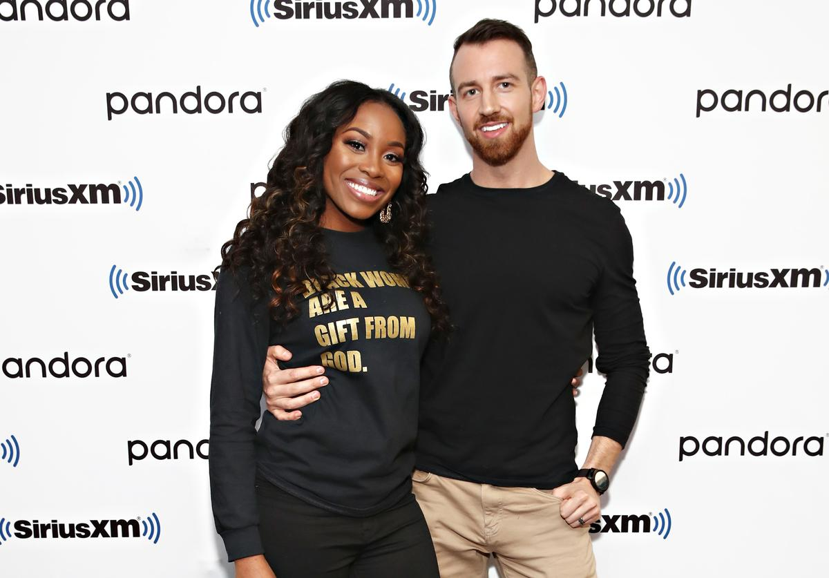 Lauren Speed and Cameron Hamilton from Love Is Blind visit the SiriusXM Studios on March 06, 2020 in New York City.