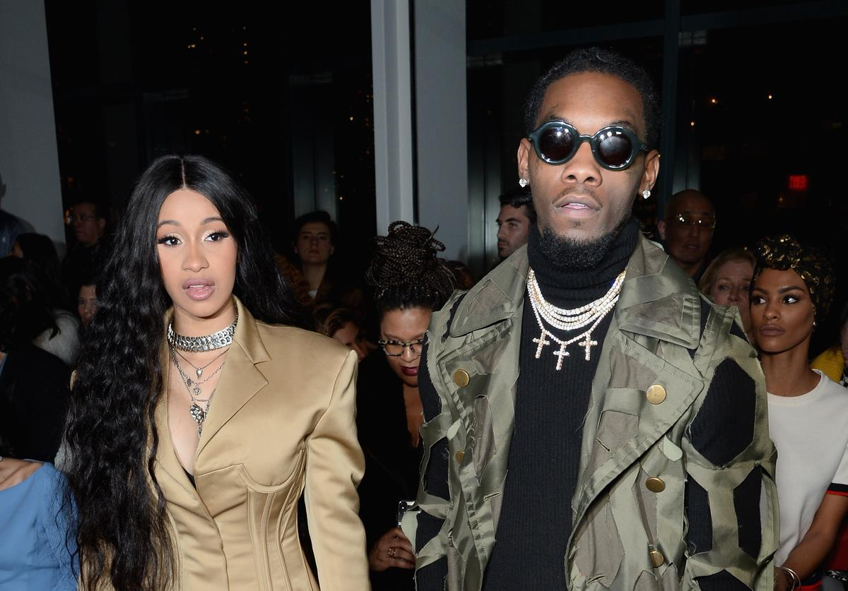 Recording artists Cardi B and Offset attend the Prabal Gurung front row during New York Fashion Week: The Shows at Gallery I at Spring Studios on February 11, 2018 in New York City.