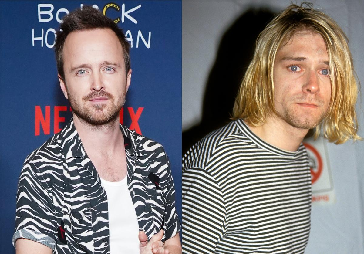 Aaron Paul Kurt Cobain Nirvana portray play star role biopic movie rockstar
