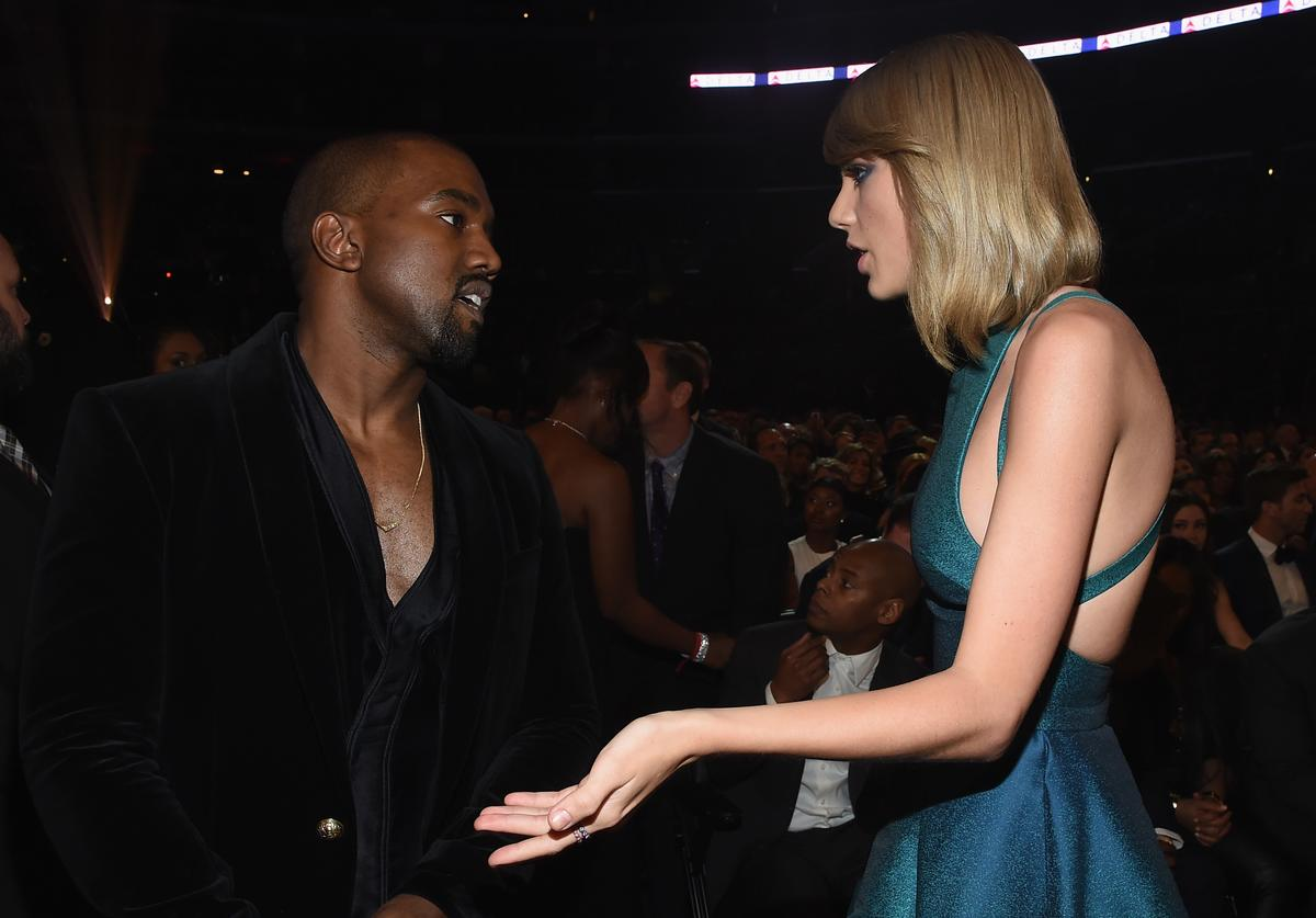 "Kanye West Taylor Swift Kim Kardashian ""Famous"" 2016 phone call snake reputation beef leaked"