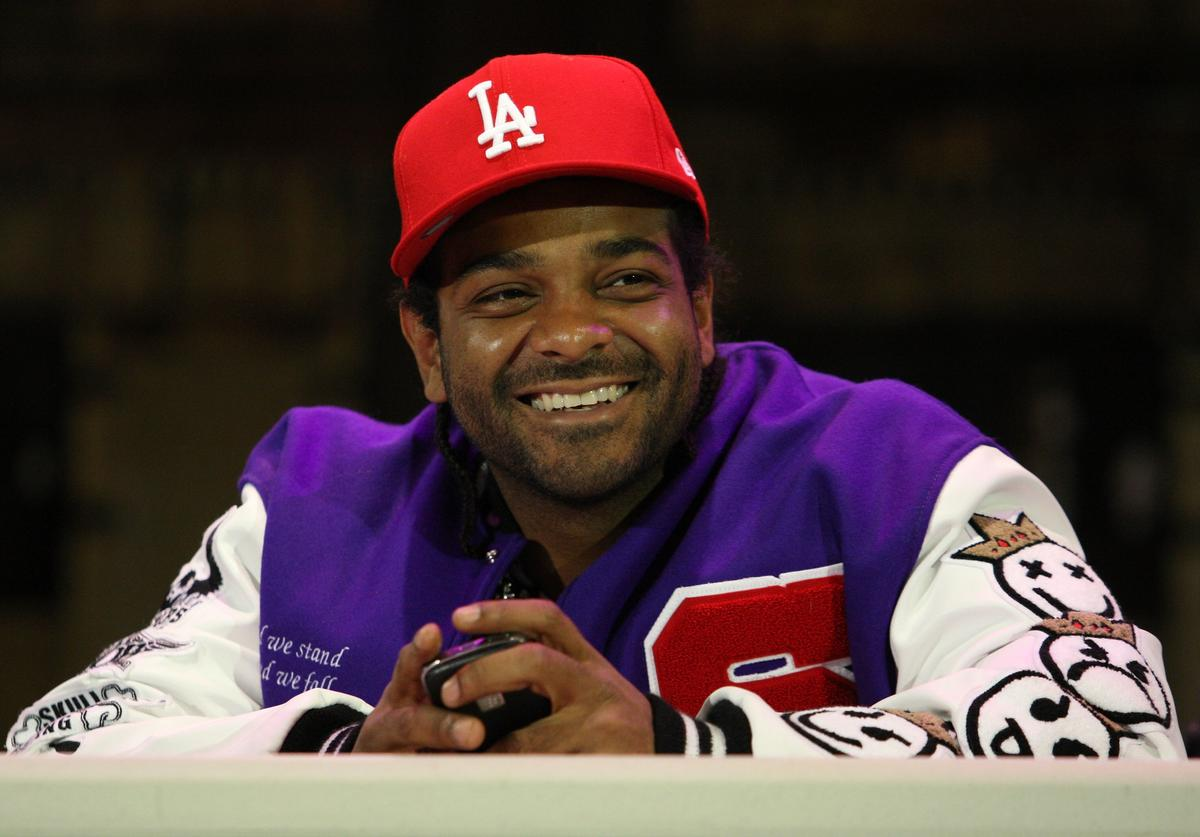 "Recording artist Jim Jones attends the Sony Entertainment press conference to announce the return of ""Hi"