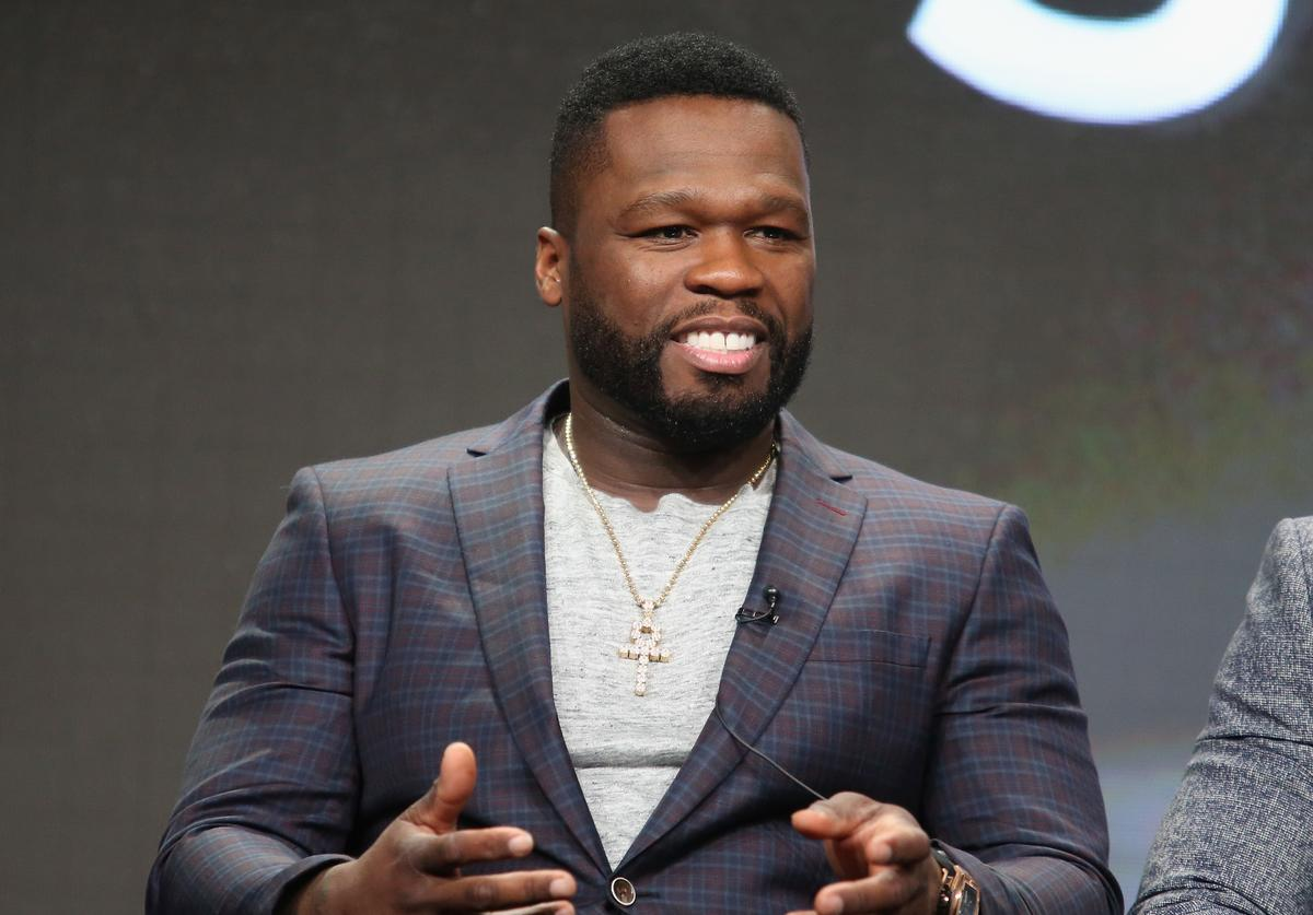 "Executive producer/actor Kurtis ""50 Cent"" Jackson speaks onstage during the 'Power' panel discussion at the Starz portion of the 2016 Television Critics Association Summer Tour at The Beverly Hilton Hotel on August 1, 2016 in Beverly Hills, California"