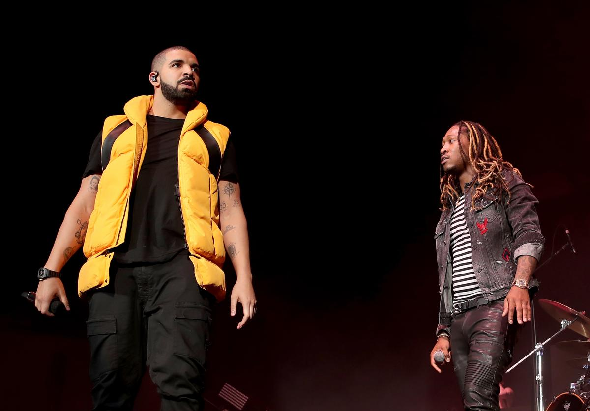 Drake and Future during day 2 of the Coachella Valley Music And Arts Festival (Weekend 1) at the Empire Polo Club on April 15, 2017 in Indio, California.
