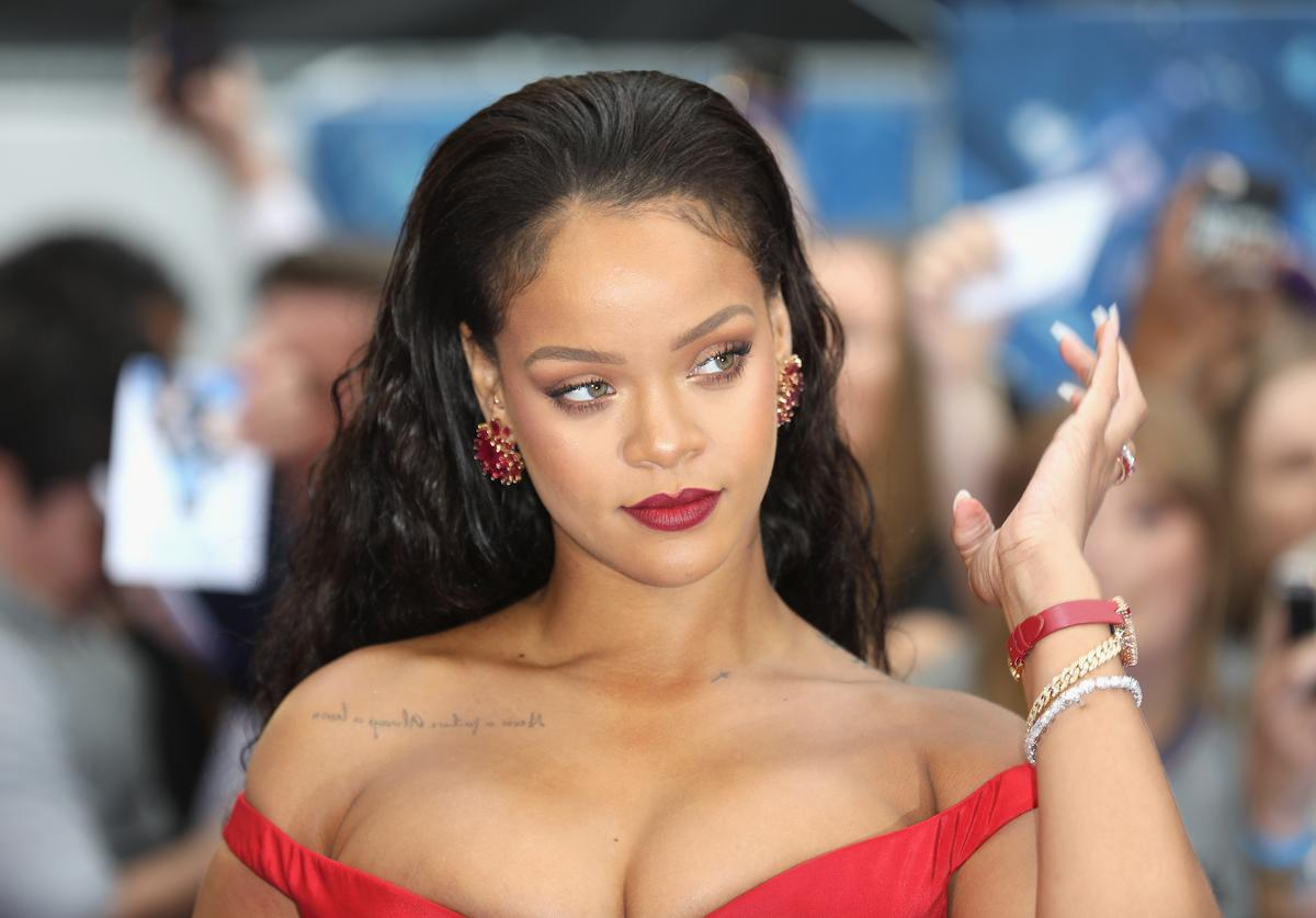 """Rihanna attends the """"Valerian And The City Of A Thousand Planets"""" European Premiere at Cineworld Leicester Square on July 24, 2017 in London, England."""