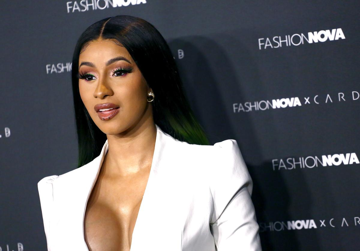 Cardi B arrives as Fashion Nova Presents: Party With Cardi at Hollywood Palladium on May 8, 2019 in Los Angeles, California.