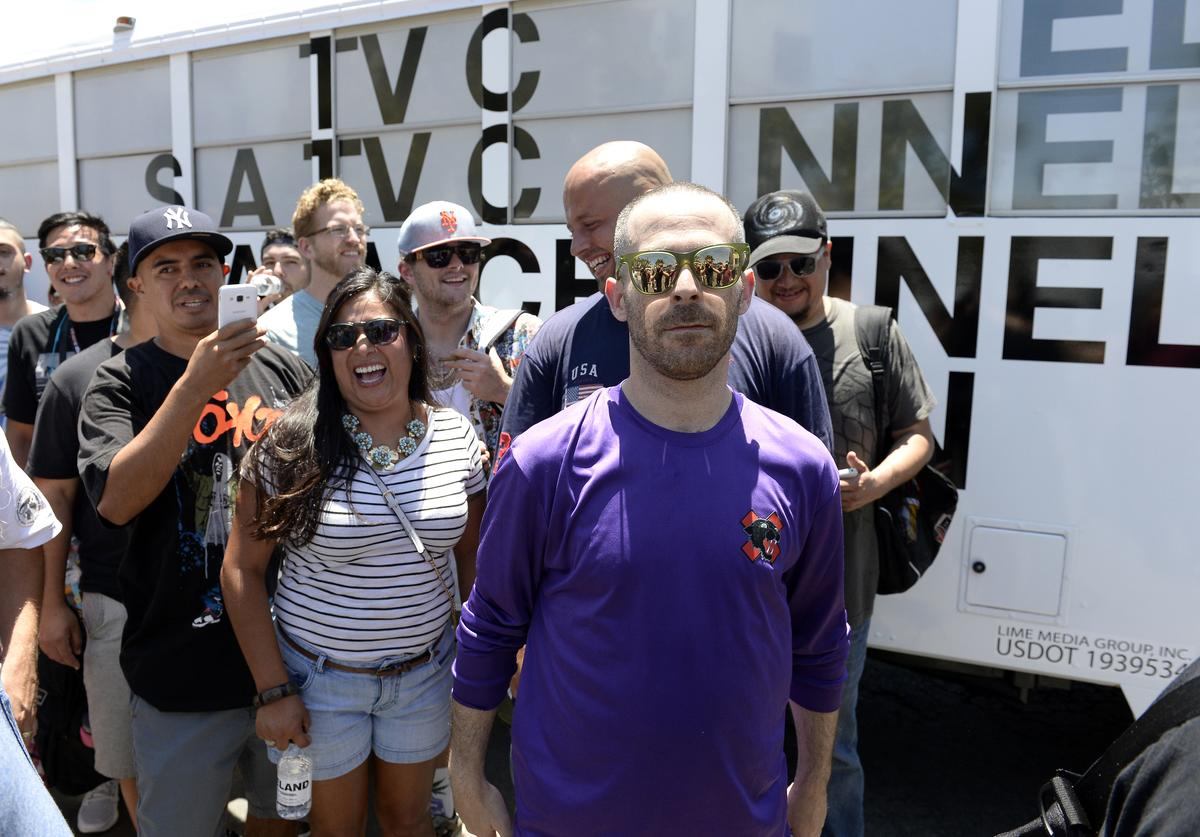"""Producer The Alchemist attends The """"VICELAND"""" Comic-Con Party Bus at San Diego Convention Center on July 22, 2016 in San Diego, California."""