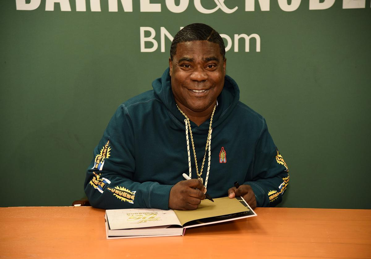 "Tracy Morgan Signs Copies Of ""The Last O.G. Cookbook: How To Get Mad Culinary Skills at Barnes & Noble, 5th Avenue on April 03, 2019 in New York City."